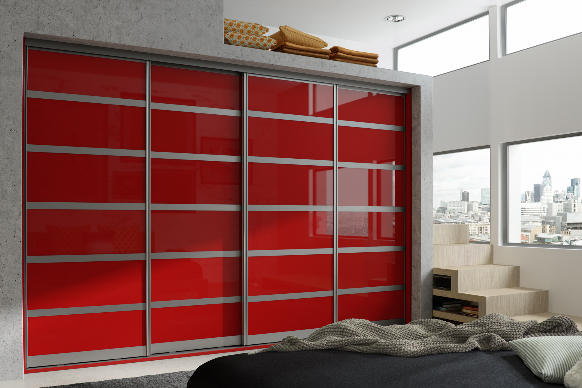 Primo - Aluminium - Chilli Red Mirror Gloss
